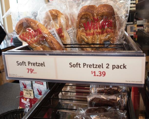 Wawa soft pretzels, Wawa convenience store