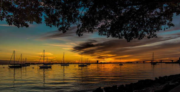 Sunset, Marina Jack's, City Island, Sarasota FL