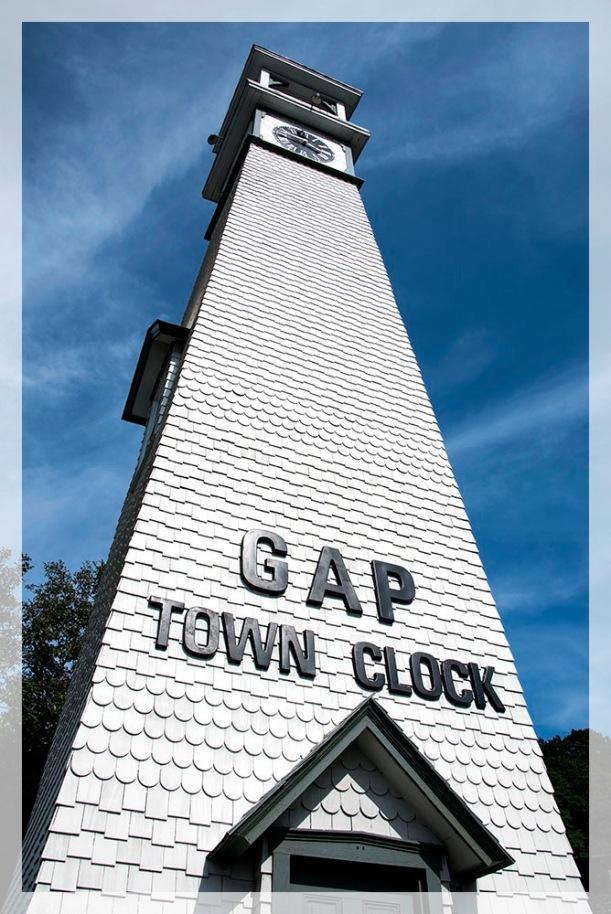 Gap Town Clock. Gap PA