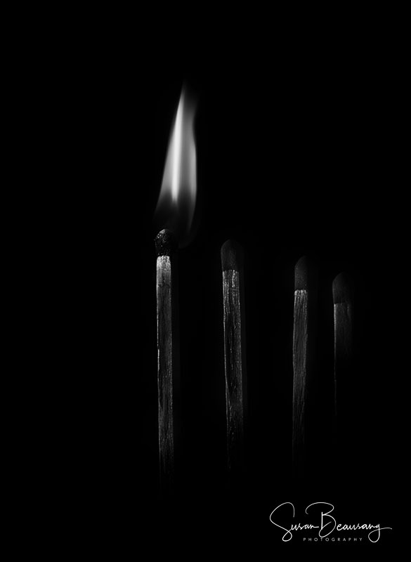 Matchsticks, Macro, Low key