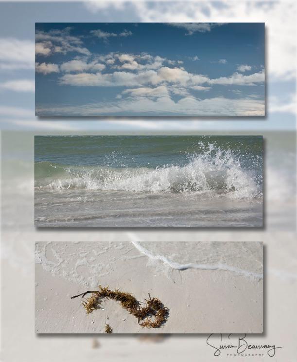 Siesta Key FL, Tryptich