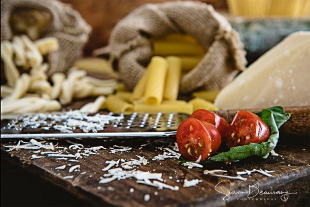 Fusilli, Rigatoni, Spaghetti 3 shapes pasta