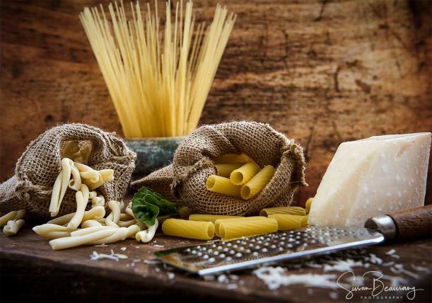 Pasta, Fusilli, spaghetti, rigatoni