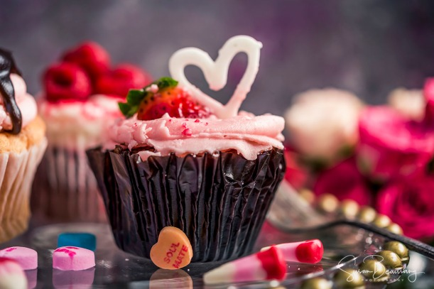 Valentines Day, Food Photography, Cupcakes
