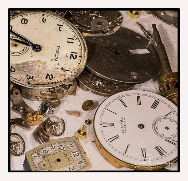 watches, broken, macro