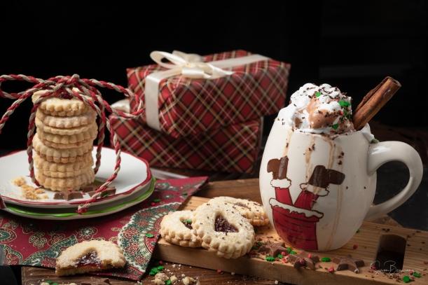 Rule of odds, Christmas scene,Christmas Cookies, Hot Chocolate, Christmas Presents